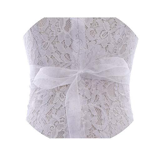 hotmoment-ukHandgefertigter Hochzeitsgürtel mit silberfarbenen Kristallen, Brautschärpe, Strass, Perlen, Brautgürtel für Hochzeitskleider, rosafarbenes Organza Gr. Einheitsgröße, Weißer Organza