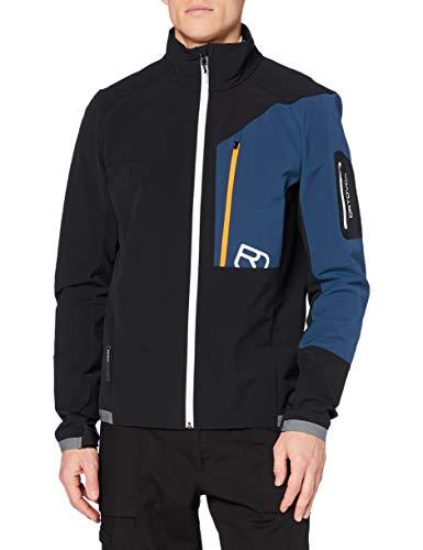 ORTOVOX Mens Berrino Shell Jacket, Black Raven, XL