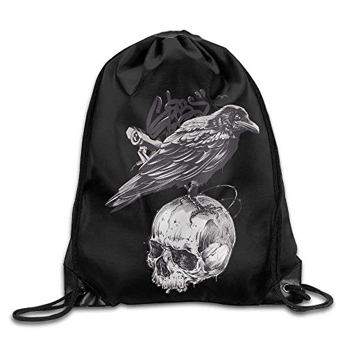 Etryrt Zaino con Coulisse,Borse Sacca,Sacchetto Drawstring Backpack Art Design Print Rucksack Shoulder Bags Gym Bag Cute Creative Haven Angry Owls 17'x12'