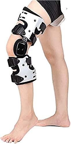 LXNQG Férula de la ortesis de la rodilla, transpirable antideslizante con bisagras con bisagras de la rodilla de la rodilla ajustable OA tirantes para el ligamento de la artritis, el dolor de