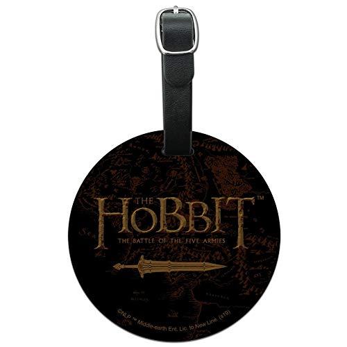 The Hobbit Five Armies Logo, rund, Leder