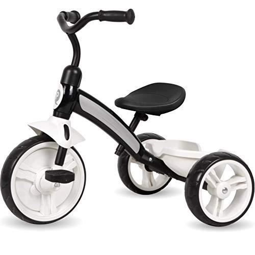 Q-Play kinderdriewieler vanaf 2 jaar kinderen driewieler scooter fiets jongens meisjes zwart