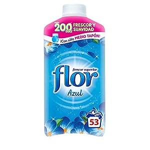 Flor – Suavizante para la ropa concentrado, aroma azul – Pack de 10, hasta 530 dosis