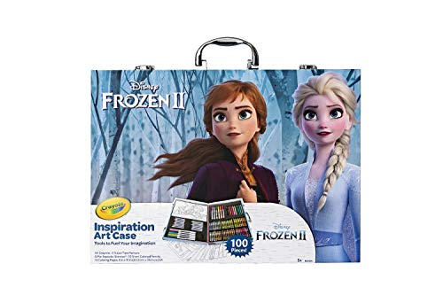 Crayola Frozen 2 Inspiration Art Case, 100 Art & Coloring Supplies, Gift for Age 5, 6, 7, 8