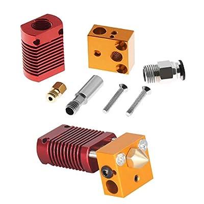 MUTUBEN 3D Upgrade Parts Assembled MK8 Extruder Hot End KitCreality 3D Printer Extruder Hot End Assembled Kit for CR-10 CR-10S CR-10S4 CR-10S5 3D Printer 12V 40W