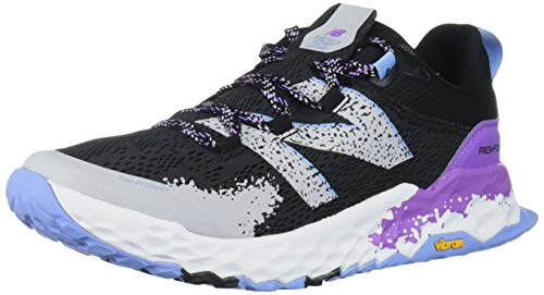 New Balance Women's Fresh Foam Hierro V5 Trail Running Shoe, Black/Neo Violet, 8 M US
