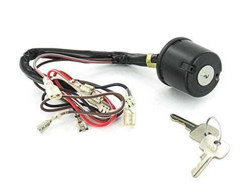 Zündlichtschalter (Zündschloss) DABLONA - 8 Kabel (f. Lichthupe) SR50, SR80