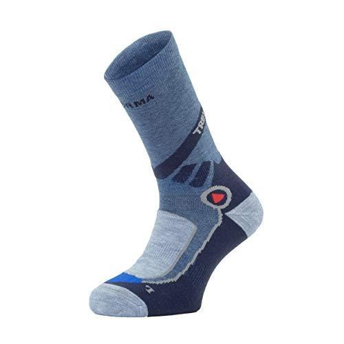 Enforma Unisex Wander, Trekkingsocken Socken, Blau, 39-41