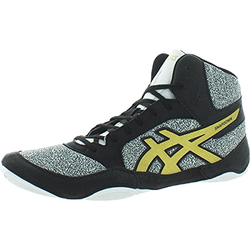 ASICS Unisex Snapdown 2 Wrestling Shoes, 9, White/Rich Gold