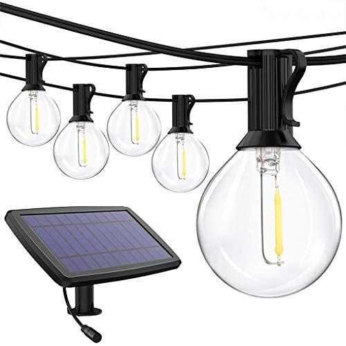 Deshunchang Outdoor String Lights 25 LED G40 Globe Glass Bulbs Waterproof Hanging Decorative Lamp for Patio Backyard Balcony