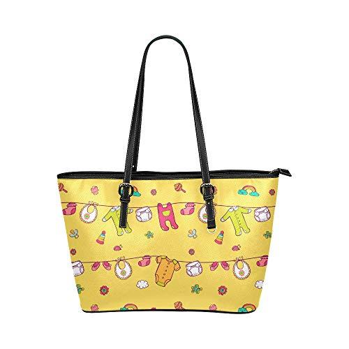 Mädchen Handtasche niedlich Cartoon Baby Adult Jumpsuit Leder Hand Totes Tasche kausale Handtaschen Reißverschluss Schulter Organizer für Lady Girls Damen Schultertaschenhalter