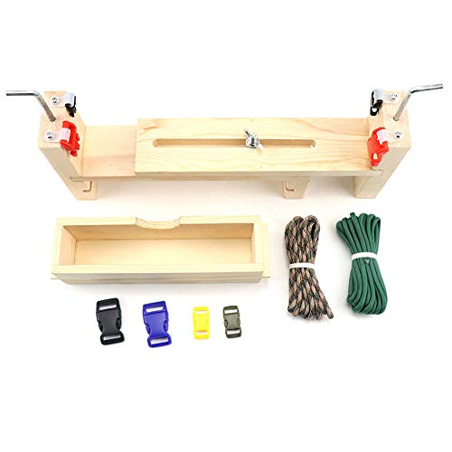 NeeyBing Jig Bracelet Maker with Parachute Cord with 2 Parachute Cords and 4 Buckles, Paracord Braiding Weaving DIY Craft Tool Kit, Wristband Maker