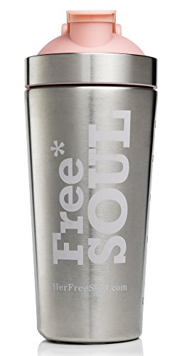 Free Soul Protein Shaker Bottle 700ml | Stainless Steel BPA Free | No Plastic Smell | Leak Proof | Keep Your Shakes Chilled | Easy to Clean, in-Built Grill for Lump-Free Mixing | Wash by Hand