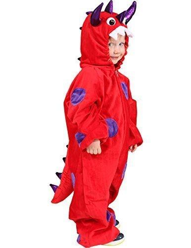 Monster rot-lila Overall, Größe:116-128cm