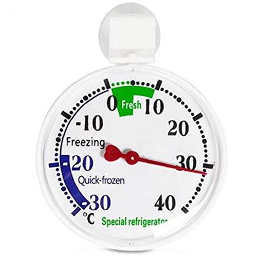 Ruluti Nevera Termómetro De Cuadrante Termómetro del Refrigerador con Zonas Coloreadas Ideal para Hogar Restaurantes Bares Cafés