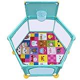 LXYFMS Box a 6 Pannelli con canestro, Baby Toddler Security Cortile, Grandi Piedi Anti-ribaltamento...