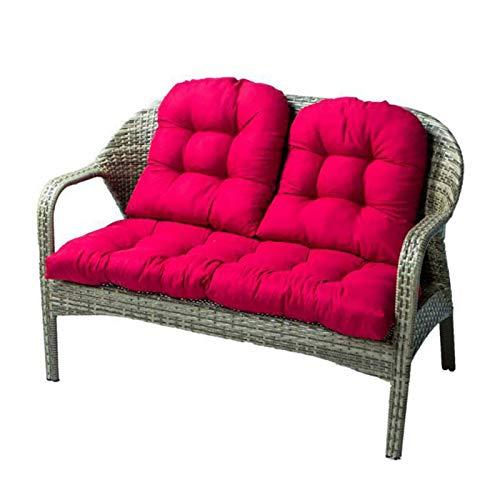 RuiXia Cojín para Asiento, Juego de Cojines para sofá, cojín para sofá, Cojines para Muebles de jardín, cojín reclinable Lavable, Cojines reclinables Gruesos, para Interiores y Exteriores