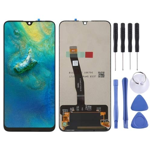 TAIYOUB LCD-scherm en Digitizer Volledige Vergadering for Huawei P Smart (2019) / Geniet 9s (zwart) (Color : Black)
