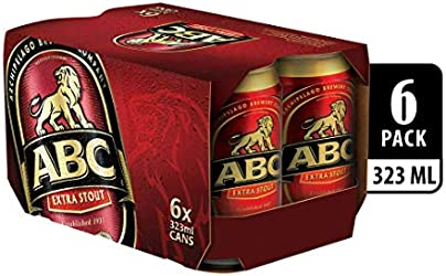 ABC Extra Stout Beer Can, 6 x 323ml