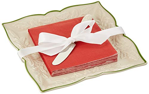3-Piece Lenox Holiday Carved Napkin Tray Set $13.55 - Amazon