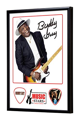 We Love Guitars Buddy Guy Music Stars Gitarre Plektrum Framed Gerahmt Display Gitarren Picks