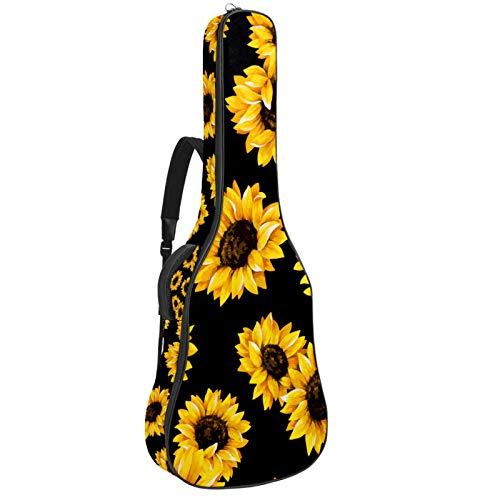 Bennigiry Bolsa de guitarra con diseño de girasoles en fond