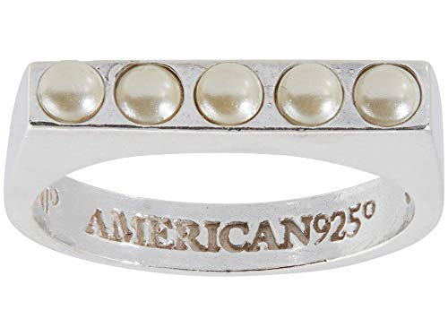 Alex and Ani Pearl Band Ring Silver/White 7