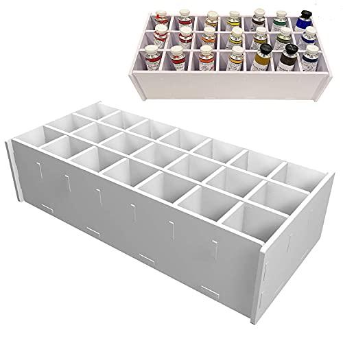 Sanfurney Paint Storage Tray, 21 Compartment Arts and Crafts Supply Storage Paint Organization