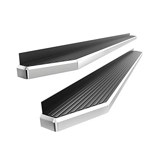 APS iBoard Polished Running Boards Style Custom Fit 2019-2020 Ram 1500 Crew Cab Pickup 4Dr (Will Not Fit 2018 Previous Generation Build in 2019) (Nerf Bars Side Steps) 6in Wide Aluminum