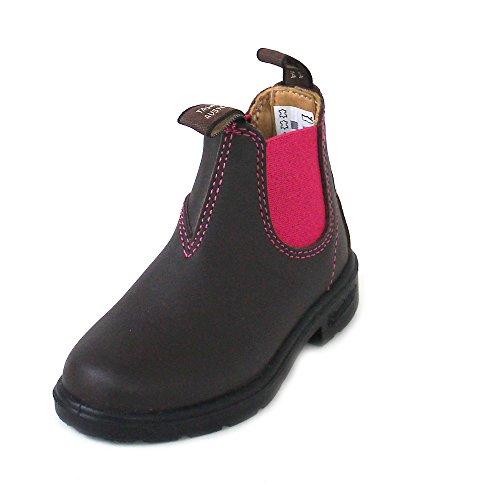 Blundstone Blundstone Unisex-Kinder Kid's Blunnies Chelsea-Stiefel, Braun/Pink, 28 EU