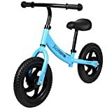 """12"""" Balance Bike Carbon Steel Frame No Pedal Walking Balance Bike Training Bicycle for Kids and Toddlers 2- to 6 Years Old"""