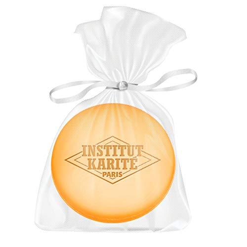 Institut Karité Paris – Savon Macaron au Beurre de Karité 27g – Soin Doux & Nettoyant pour les Mains et le Corps – Parfumé Amande & Miel – Shea Butter Soap