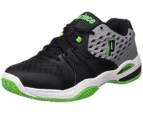 PRINCE Warrior Clay Tennisschuhe Herren schwarz-grün-grau 2014 (EU 46 / UK 11)