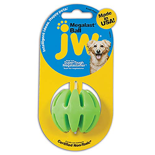 JW Pet Company Small Megalast Ball, Assorted Colors and Shapes