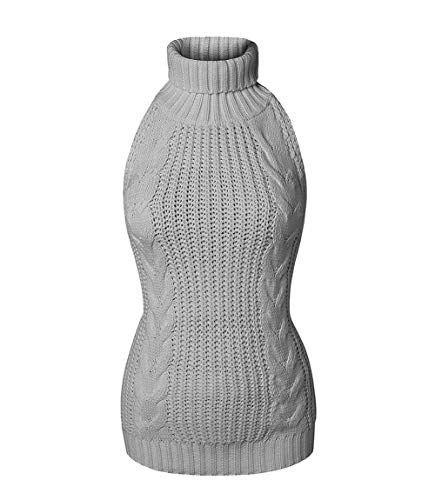 Unibaby Women's Backless Hollow Out Anime Cosplay Virgin Killer Sweater One-Piece Knit Turtleneck Pullover Vest