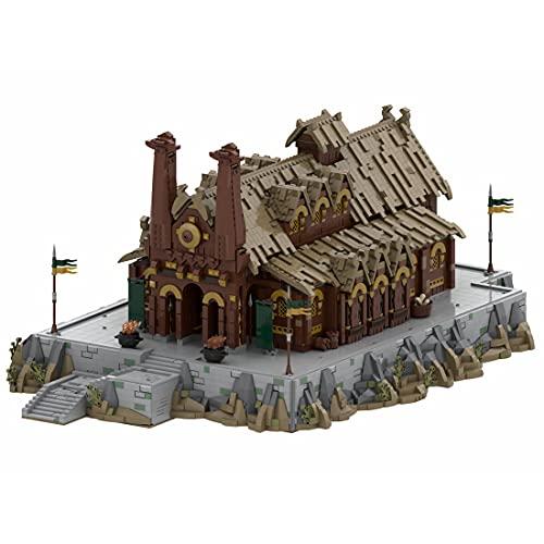 Topbau Medusselde Palast Kit de construction pour le Seigneur des Anneaux Modular Building Maison Grand bâtiment MOC-62288 Compatible avec LEGO Architecture - 7868 Pièces