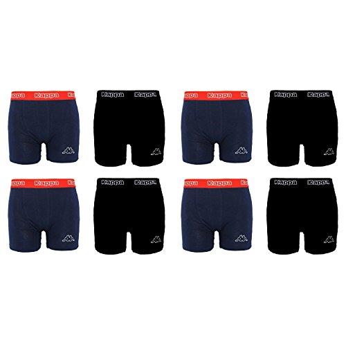 Kappa - 2er-, 4er-, 6er-, 8er-Set Boxershorts Herren Gr. S - XXL, (S - Small, 8 x Schwarz/Blau)