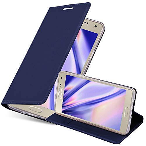 Cadorabo Coque pour Samsung Galaxy A5 2015 en Classy Bleu FONCÉ - Housse Protection avec Fermoire Magnétique, Stand Horizontal et Fente Carte - Portefeuille Etui Poche Folio Case Cover