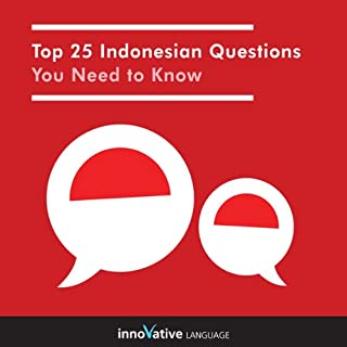 Top 25 Indonesian Questions You Need to Know audiobook cover art