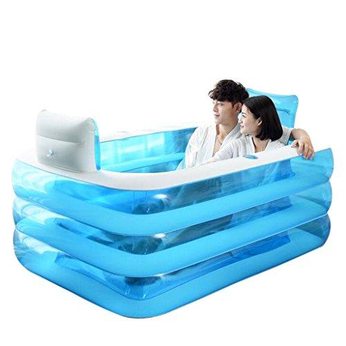 Bañeras Jacuzzis de Hidromasaje Inflable para Adultos para el hogar con Estilo cómoda Plegable Inflable para Dos Personas Passion Inflable Azul,