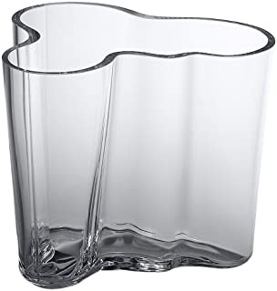 Iittala Aalto 3-3/4-Inch Clear Glass Vase