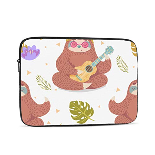 Protective Macbook Pro Case Cute Cartoon Sloth In Yoga Pose Macbook Pro Shell Multi-Color & Size Choices10/12/13/15/17 Inch Computer Tablet Briefcase Carrying Bag