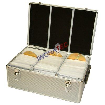 Cristalray DJ-koffer voor 510 CD/DVD - zilver