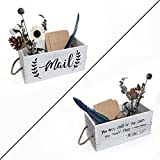 Farmhouse Wood Tabletop Decorative Mail Holder Box, Rustic The Office Decor Box, 2 Sides - Farmhouse Michael Scott Quote Mail Organizer for Home and Office, The Office Gifts