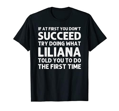 LILIANA - Broma de Navidad para cumpleaños Camiseta