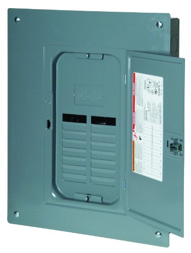 Square D by Schneider Electric QO11224L125GC QO 125-Amp 12-Space 24-Circuit Indoor Main Lugs Load Center with Cover and Ground Bar