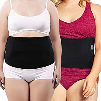 Everyday Medical Plus Size Post Surgery Abdominal Binder I Bariatric Stomach Wrap I Hernia Support for Men and Women I Obesity Girdle great for Liposuction Postpartum C-section Hernia-Size Wide 3XL