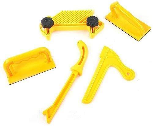 ShiSyan Palo de Empujar Set 5pcs Seguridad Pluma Amarilla Tablero y duraderos Herramientas de carpintería de Bricolaje Bloque Router Tabla Protección de Las Manos Carpintería