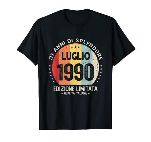 Vintage Luglio 1990 donna uomo Regalo per 31 anni Compleanno Maglietta