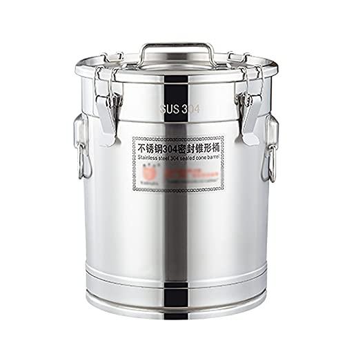 Cazos de Cocina, Ollas de sopa con tapas, barril de sopa, barril hermético de acero inoxidable de 304 espesor / cubo de almacenamiento / barril de preparación / barril de transporte, para acei